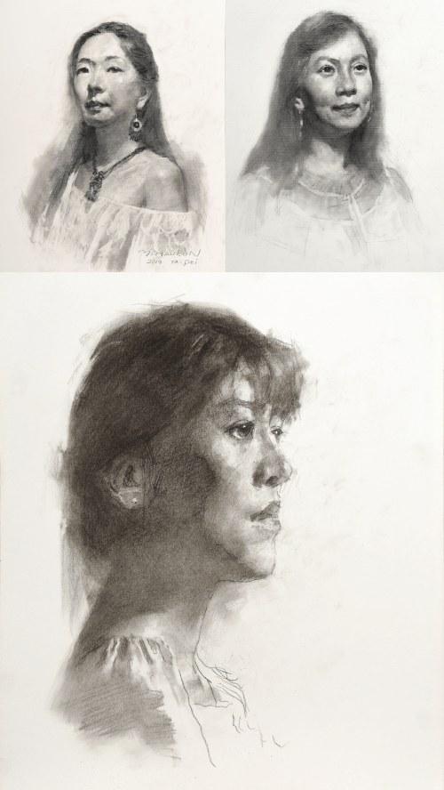 art of drawing portrait episode1 Yimaukun page03